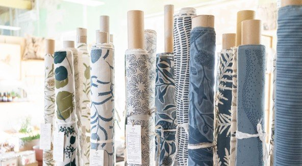 Ink and spindle fabric rolls